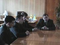 David Tinney and Stan Crawford meeting with the mayor of Konotop, Ukraine